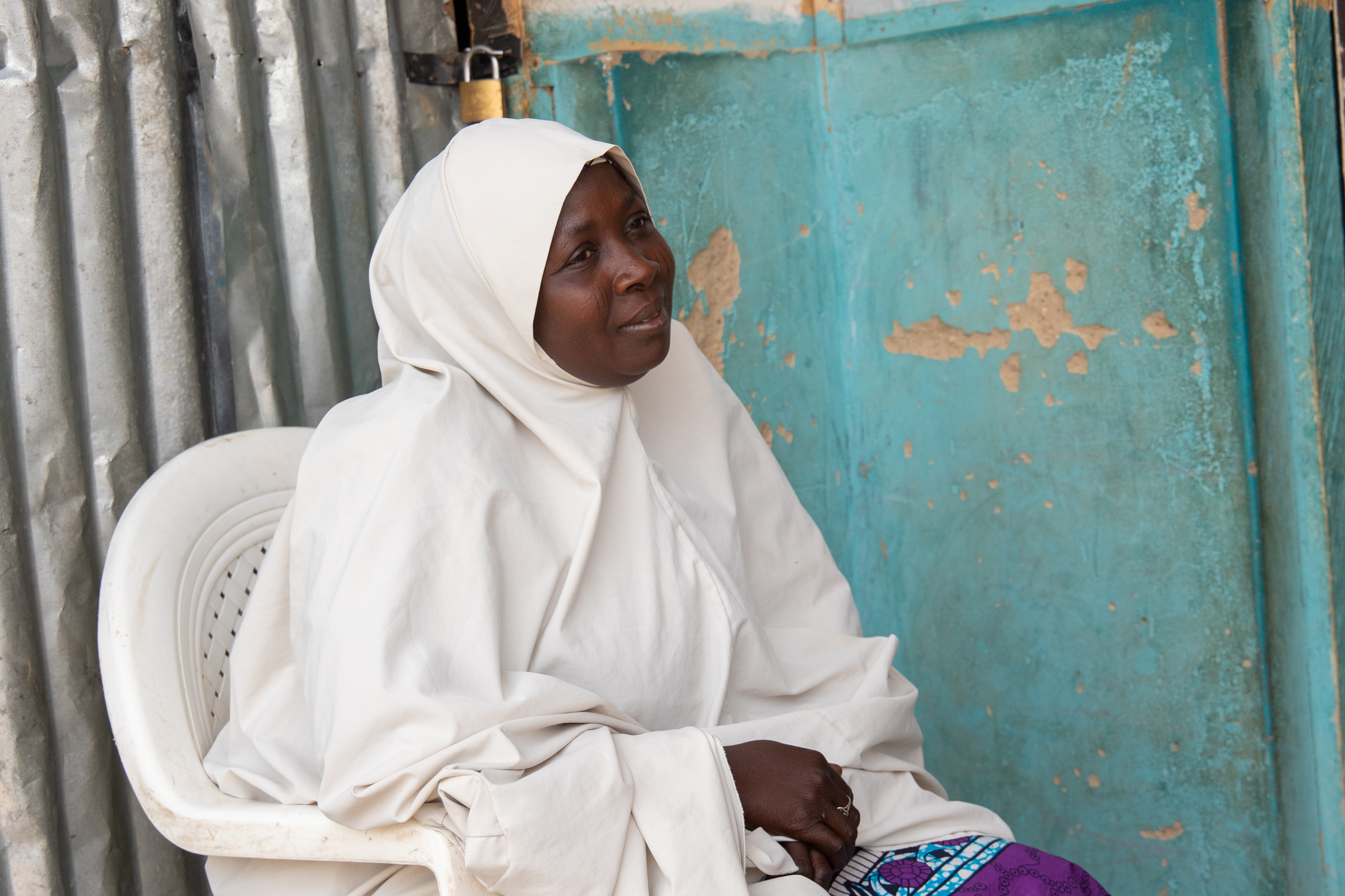 Hajara fled her village with her children seven year ago when non-state armed groups attacked the town